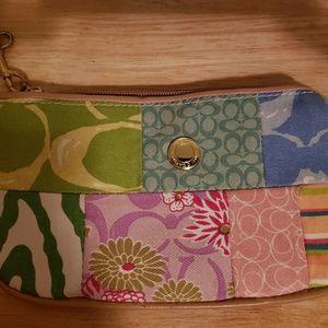 COACH Patchwork Wristlet Bag